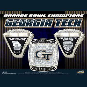 Georgia Tech Men's Football 2014 Orange Bowl Championship Ring