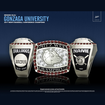 Gonzaga University Men's Baseball 2017 WCC Championship Ring