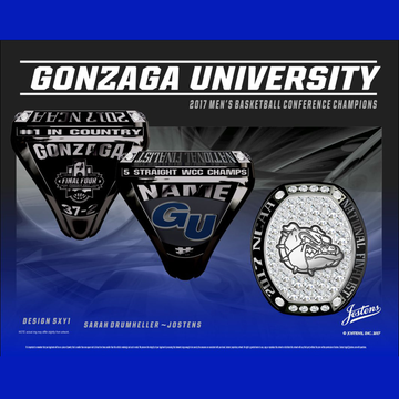 Gonzaga University Men's Basketball 2017 Final Four Championship Ring