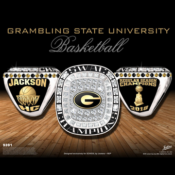Grambling State University Men's Basketball 2018 SWAC Championship Ring