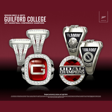 Guilford College Women's Basketball 2017 ODAC Championship Ring