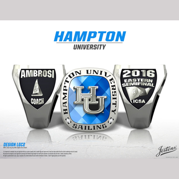Hampton University Coed Sailing 2016 Eastern Semifinal Championship Ring