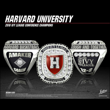 Harvard University Men's Basketball 2018 Ivy League Championship Ring