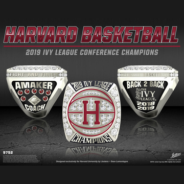 Harvard University Men's Basketball 2019 Ivy League Championship Ring