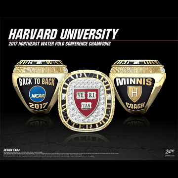 Harvard University Men's Water Polo 2017 Northeast Water Polo Championship Ring