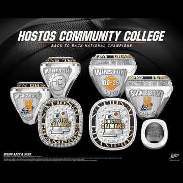 Hostos Community College Women's Basketball 2019 National Championship Ring