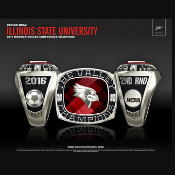 Illinois State University Women's Soccer 2016 Conference Championship Ring