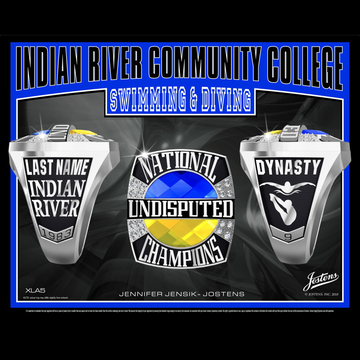 Indian River Community College Men's Swimming & Diving National Championship Ring