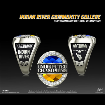 Indian River Community College Women's Swimming & Diving 1983 National Championship Ring