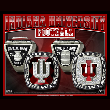Indiana University Men's Football 2016 Foster Farms Championship Ring