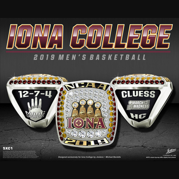 Iona College Men's Basketball 2019 MAAC Championship Ring