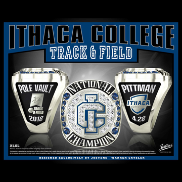 Ithaca College Women's Track & Field 2018 National Championship Ring