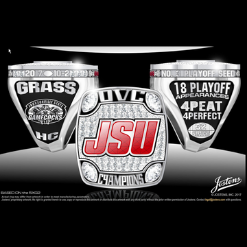 Jacksonville State University Men's Football 2017 OVC Championship Ring