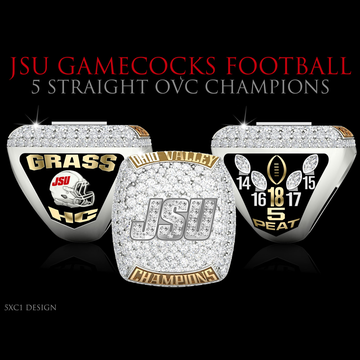 Jacksonville State University Men's Football 2018 OVC Championship Ring