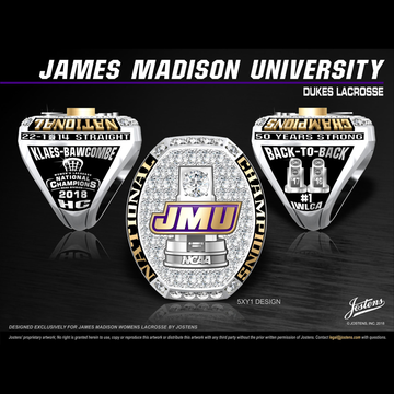 James Madison University Women's Lacrosse 2018 National Championship Ring