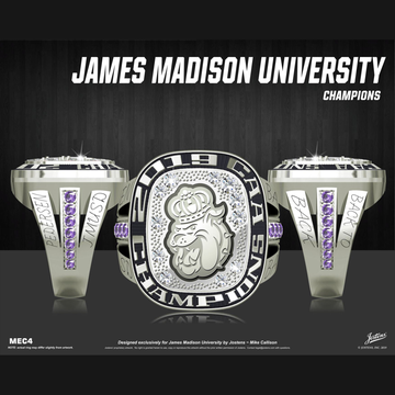 James Madison University Women's Swimming & Diving 2019 CAA Championship Ring