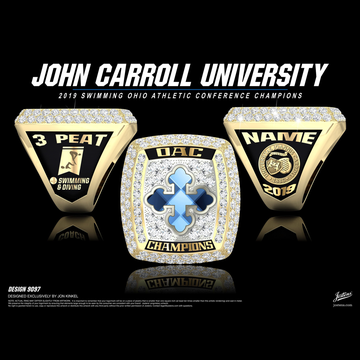 John Carroll University Men's Swimming & Diving 2019 OAC Championship Ring