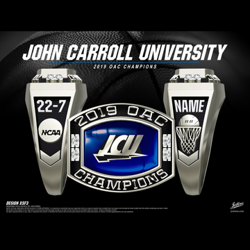 John Carroll University Women's Basketball 2019 OAC Championship Ring