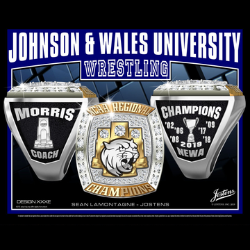 Johnson & Wales University Men's Wrestling 2019 Regional Championship Ring