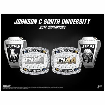 Johnson C. Smith University Women's Basketball 2017 CIAA Championship Ring