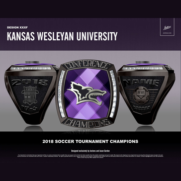 Kansas Wesleyan University Men's Soccer 2018 Conference Championship Ring