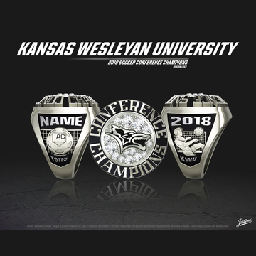Kansas Wesleyan University Women's Soccer 2018 Conference Championship Ring