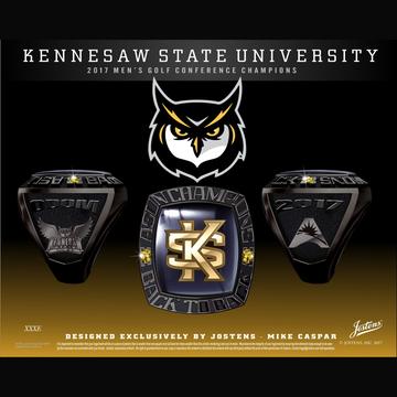 Kennesaw State University Men's Golf 2017 ASUN Championship Ring