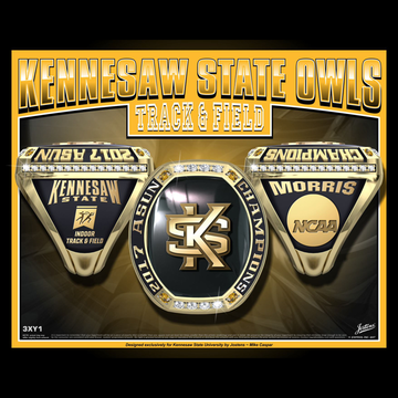 Kennesaw State University Men's Track & Field 2017 ASUN Championship Ring