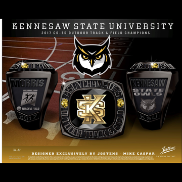 Kennesaw State University Women's Track & Field 2017 ASUN Championship Ring