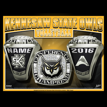 Kennesaw State University Women's Volleyball 2016 ASUN Championship Ring