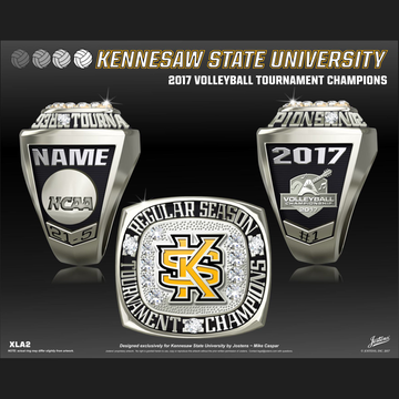 Kennesaw State University Women's Volleyball 2017 ASUN Championship Ring