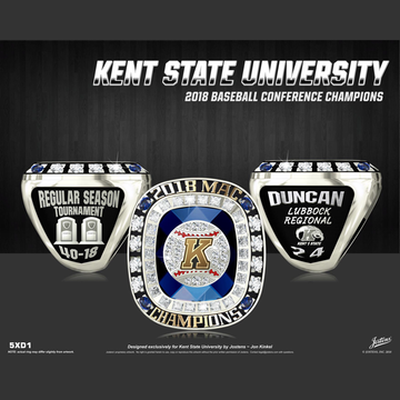 Kent State University Men's Baseball 2018 MAC Championship Ring