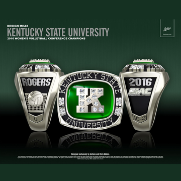 Kentucky State University Women's Volleyball 2016 SIAC Championship Ring