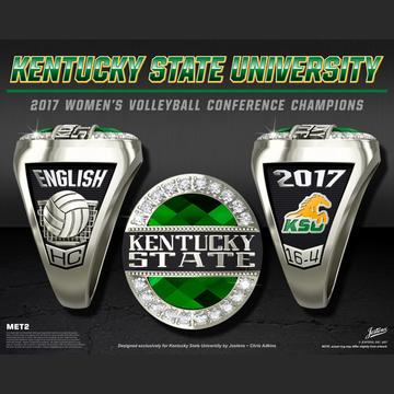 Kentucky State University Women's Volleyball 2017 SIAC Championship Ring