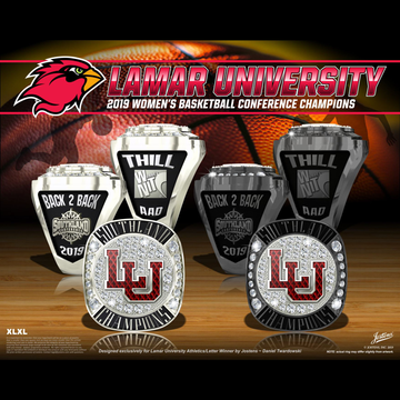 Lamar University Women's Basketball 2019 Southland Championship Ring