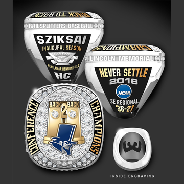 Lincoln Memorial University Men's Baseball 2018 Conference Championship Ring