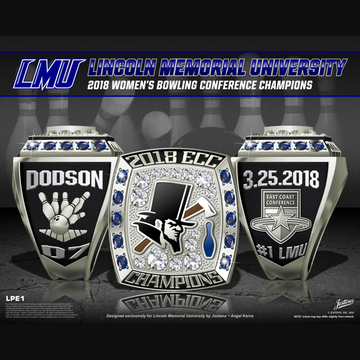 Lincoln Memorial University Women's Bowling 2018 Conference Championship Ring