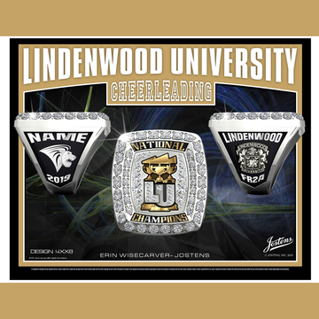 Lindenwood University Coed Cheer 2019 National Championship Ring