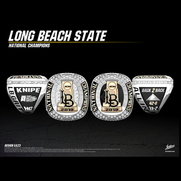 Long Beach State University Men's Volleyball 2019 National Championship Ring