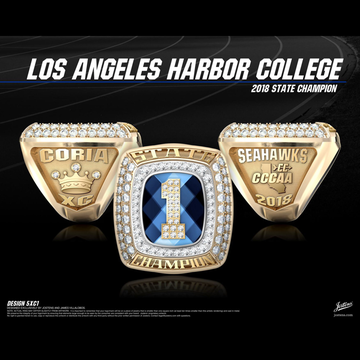 Los Angeles Harbor College Women's Cross Country 2018 State Championship Ring