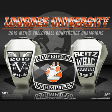 Lourdes University Men's Volleyball 2019 WHAC Championship Ring