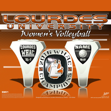 Lourdes University Women's Volleyball 2016 WHAC Championship Ring
