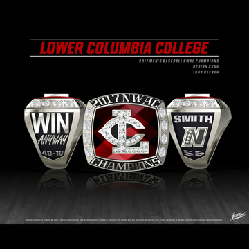 Lower Columbia College Men's Baseball 2017 NWAC Championship Ring