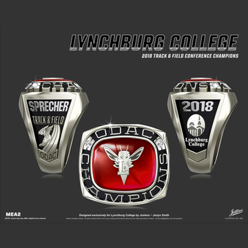Lynchburg College Women's Track & Field 2018 ODAC Championship Ring