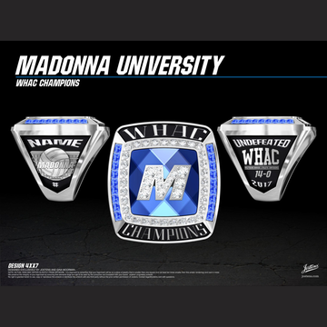 Madonna University Men's Volleyball 2017 WHAC Championship Ring