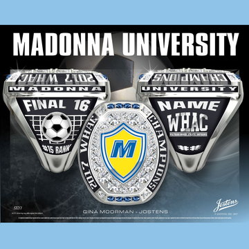 Madonna University Men's Soccer 2017 WHAC Championship Ring