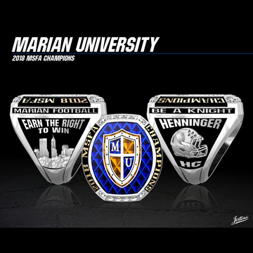 Marian University Men's Football 2018 MSFA Championship Ring