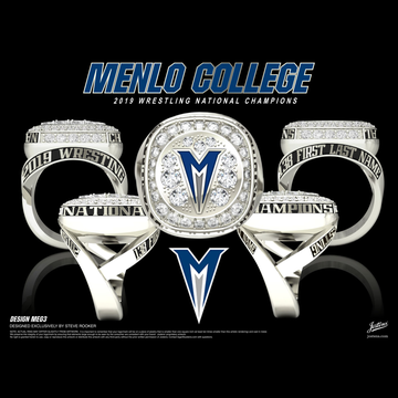 Menlo College Women's Wrestling 2019 National Championship Ring