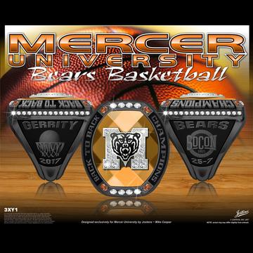 Mercer University Men's Basketball 2017 SoCon Championship Ring