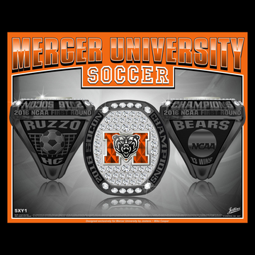 Mercer University Men's Soccer 2016 SoCon Championship Ring